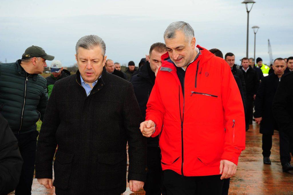 Minister Giorgi Kvirikashvili and Mamuka Khazaradze
