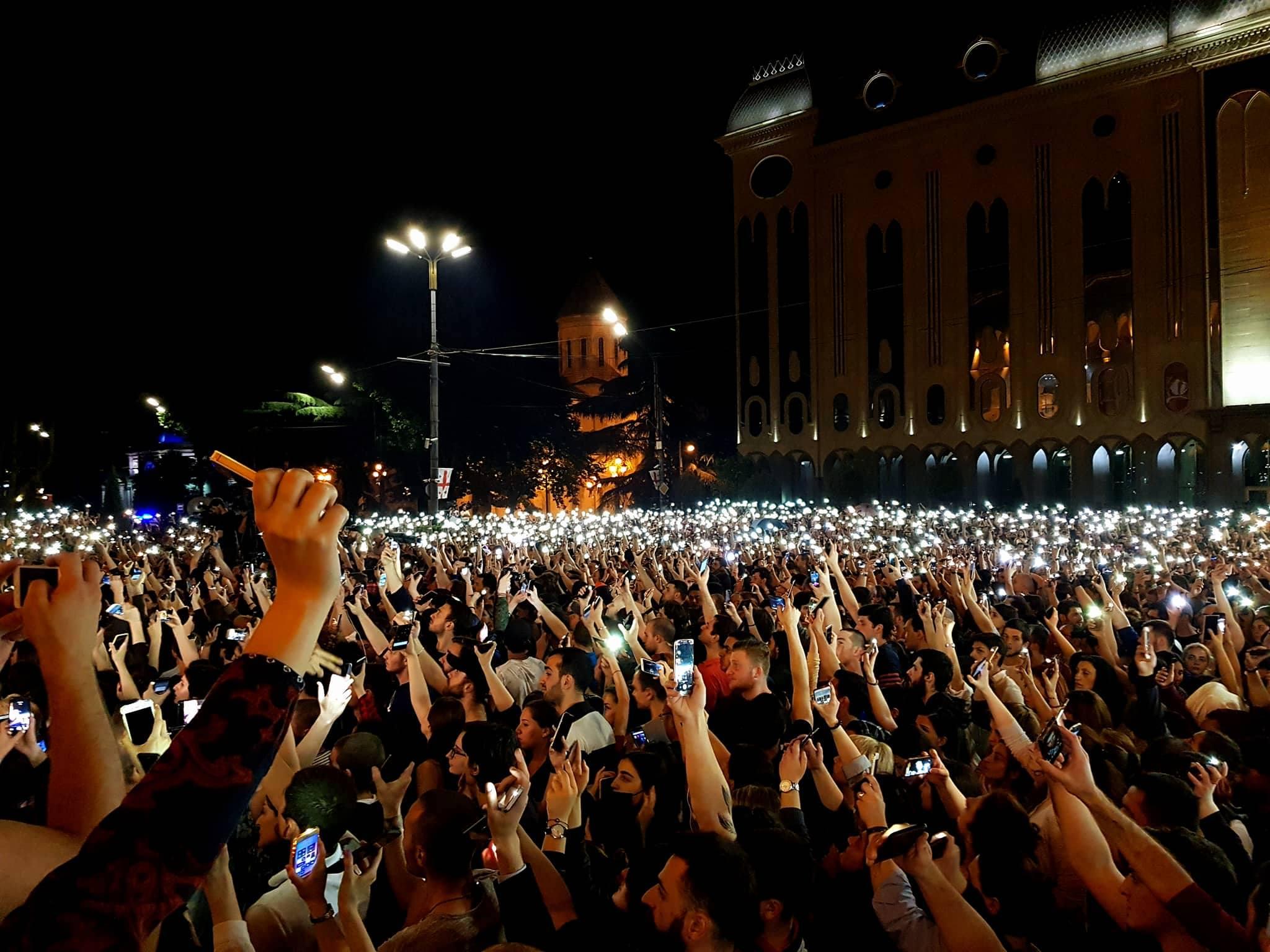 A protest outside parliament. Photo:MariamNikuradze/OCMedia.