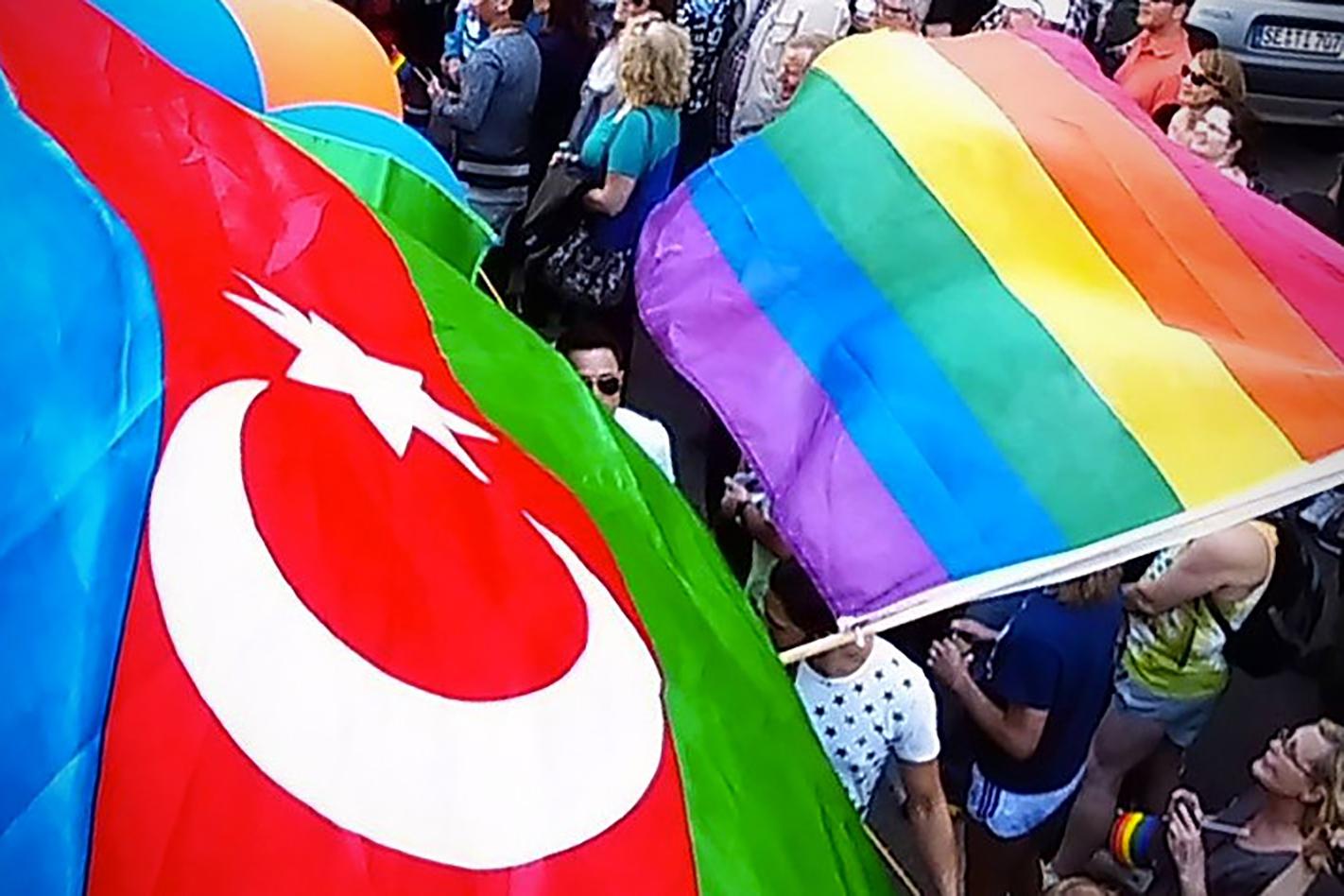 LGBT Azerbaijan rainbow flag