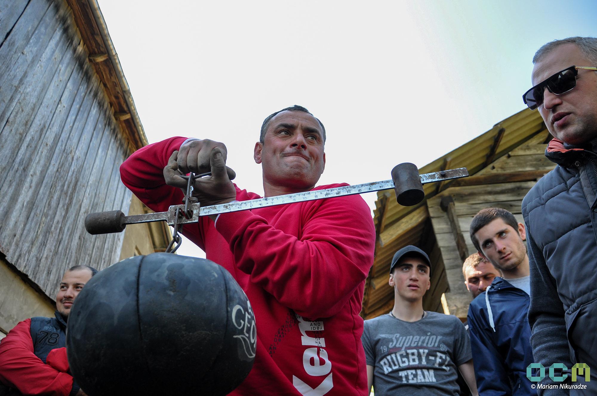 This year the ball weighed 18.1kg. Photo: Mariam Nikuradze/OC Media