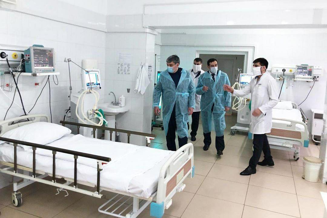 Kazbek Kokov inspecting the 1st City Hospital of Nalchik. Photo: Kazbek Kokov/Instagram.