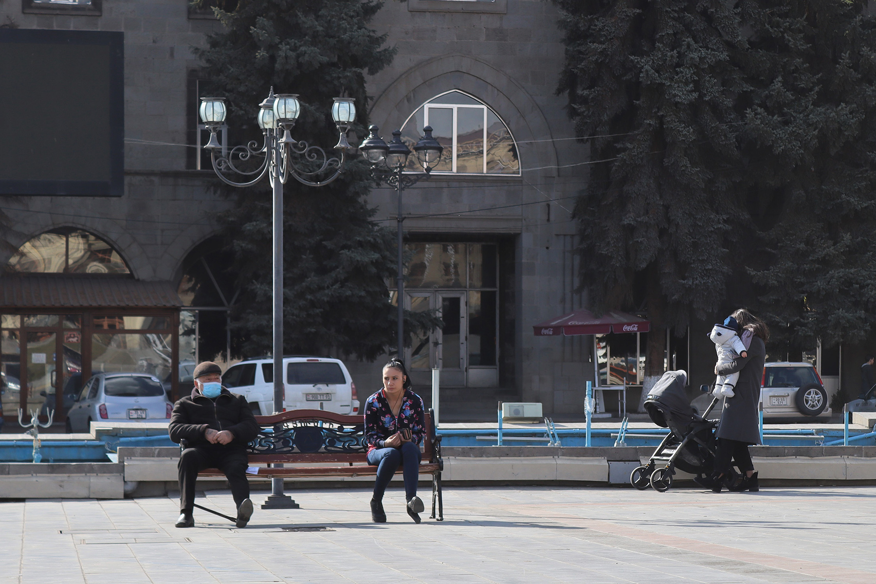 Gyumri's central Vartanants Square. Photo: Anahit Harutyunyan/OC Media.