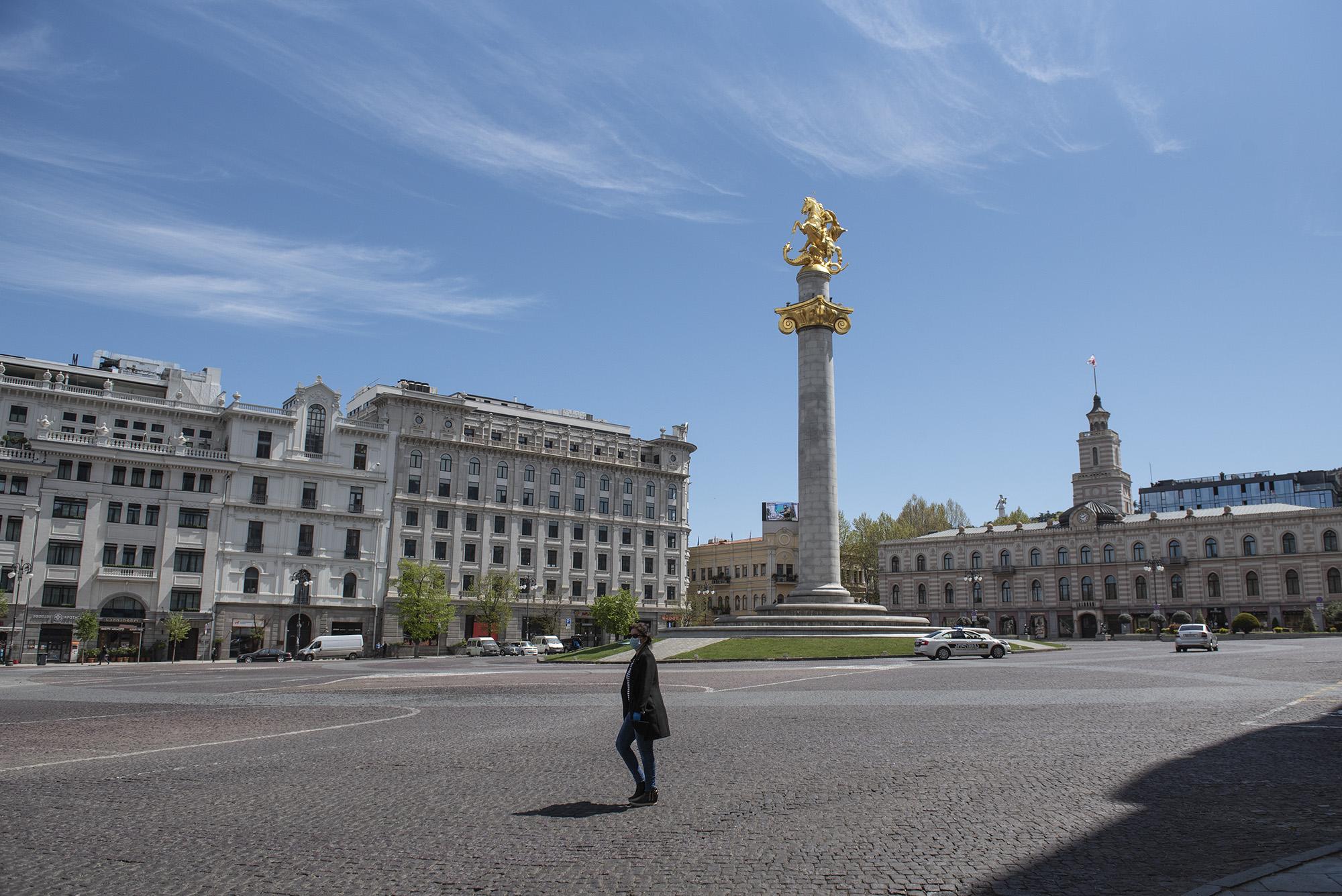 Freedom Square. Photo: Mariam Nikuradze/OC Media