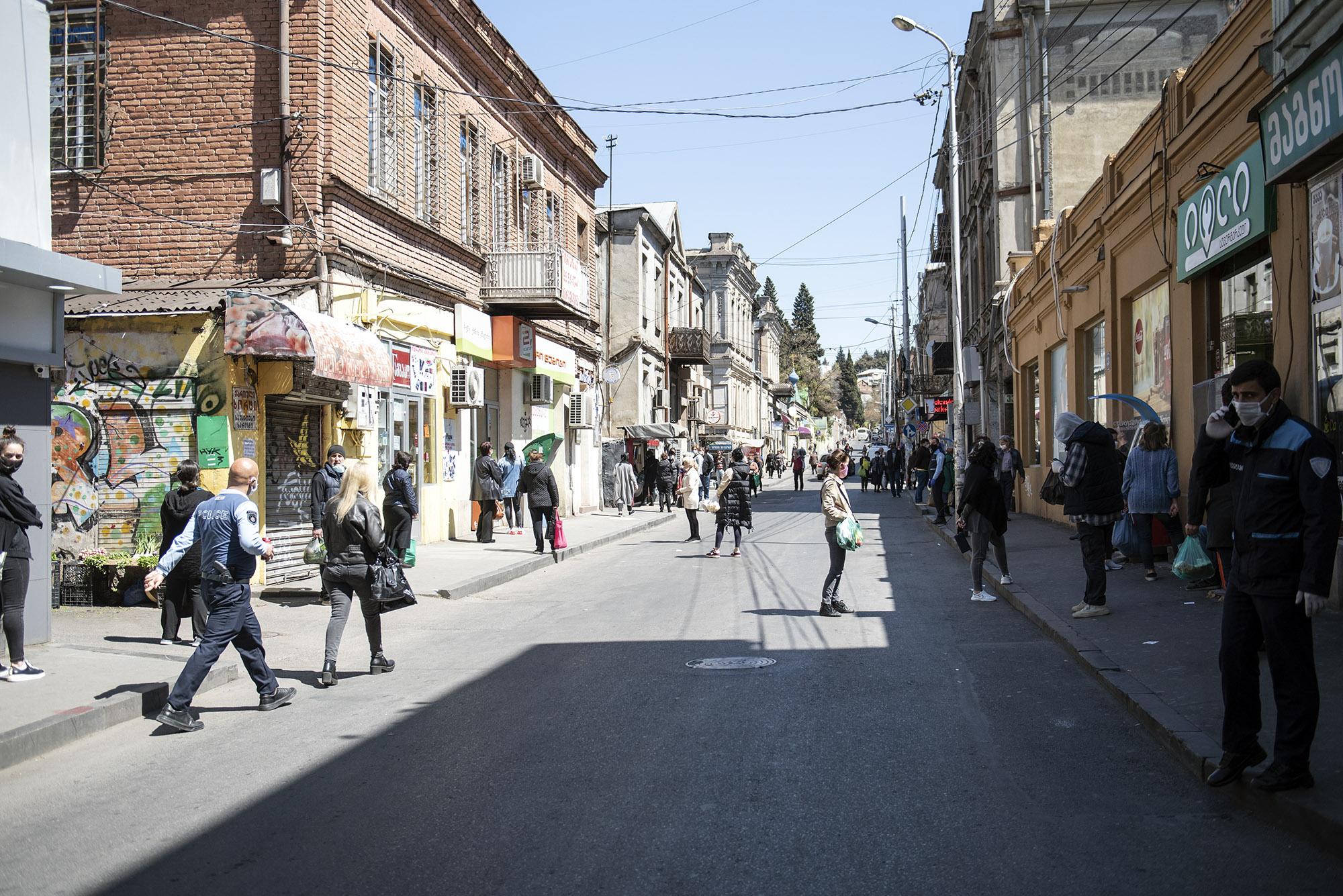 People  on Marjanishvili street. Photo: Mariam Nikuradze/OC Media