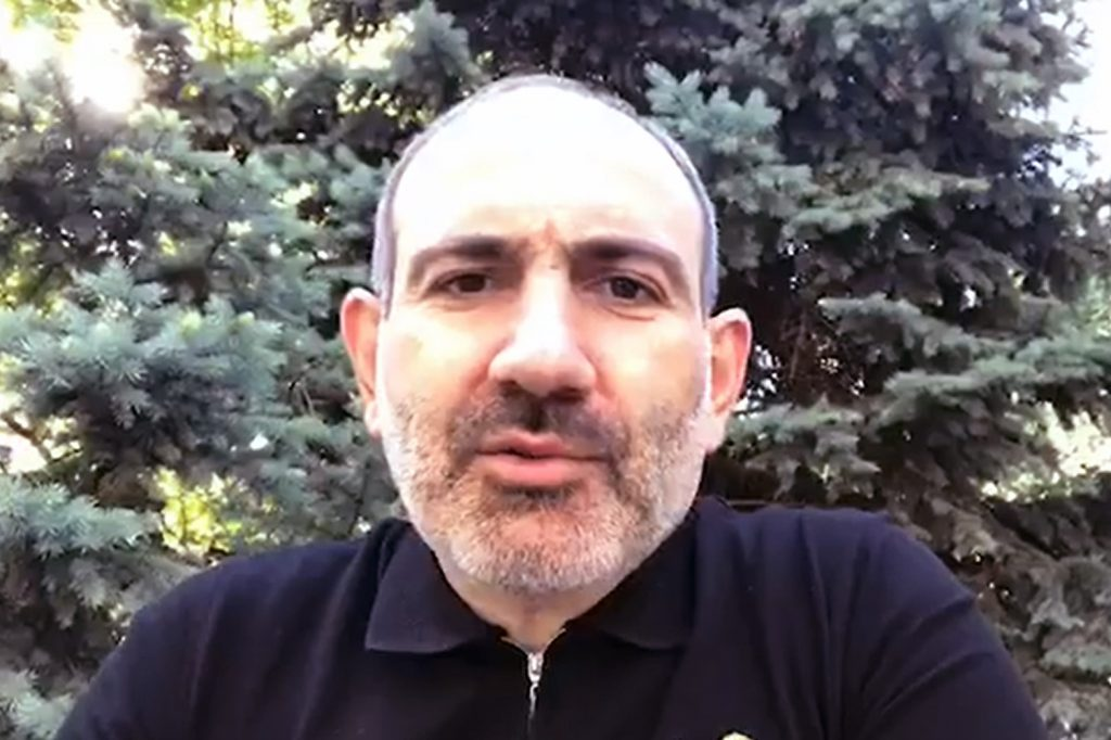 Armenian PM Pashinyan says he & his family have contracted coronavirus