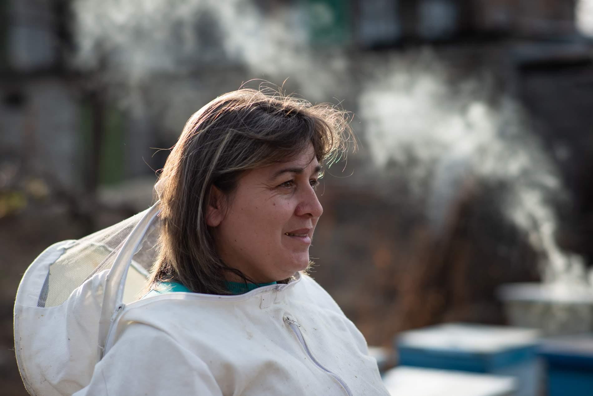 Beekeeping is between 20%-30% of the Katsiashvili family income.  Photo: Tamuna Chkareuli/OC Media.