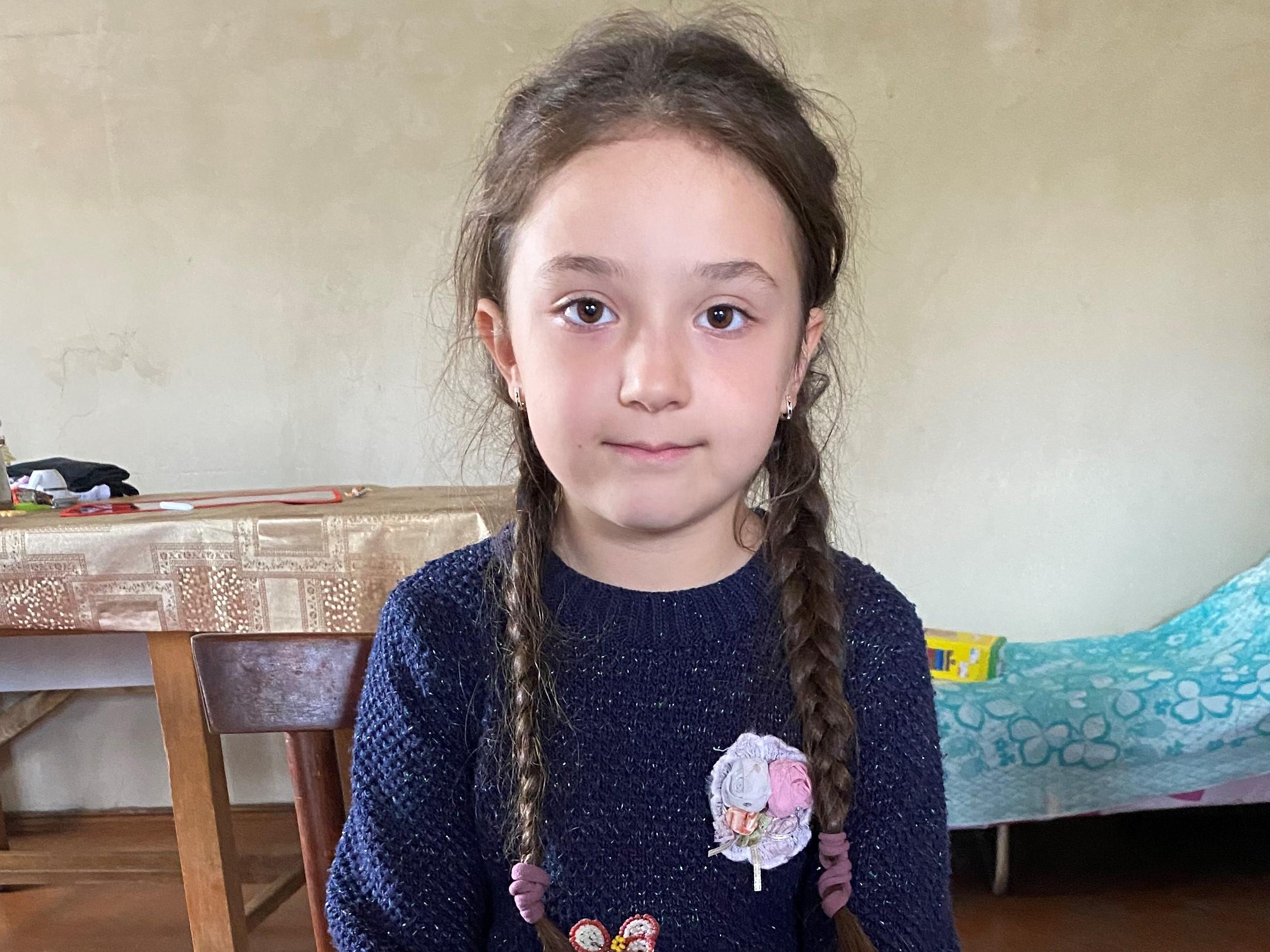 Elmira's daughter Milena. Photo: Dvin Titizian/OC Media.
