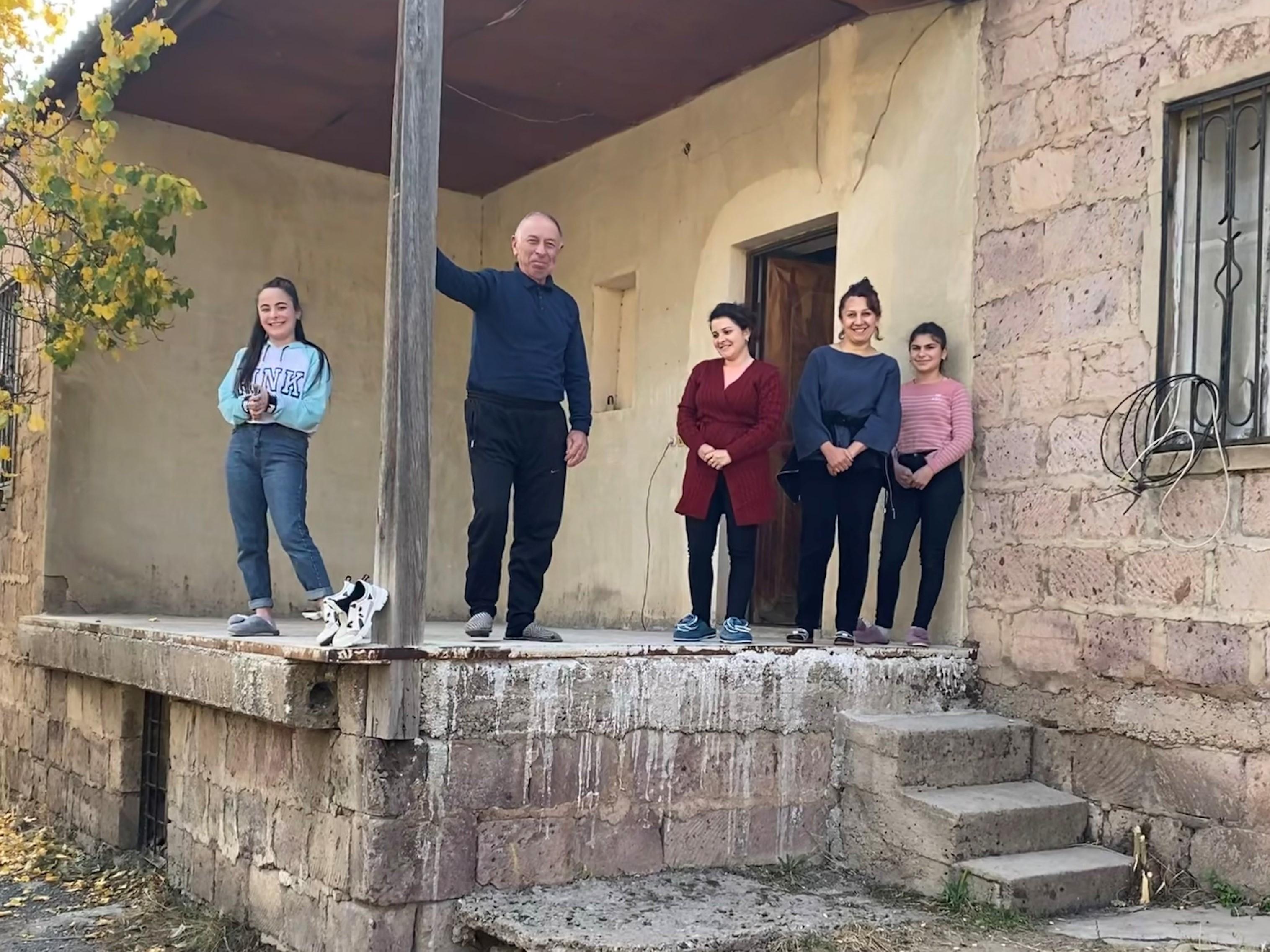 The Poghosyan family. Photo: Dvin Titizian/OC Media.