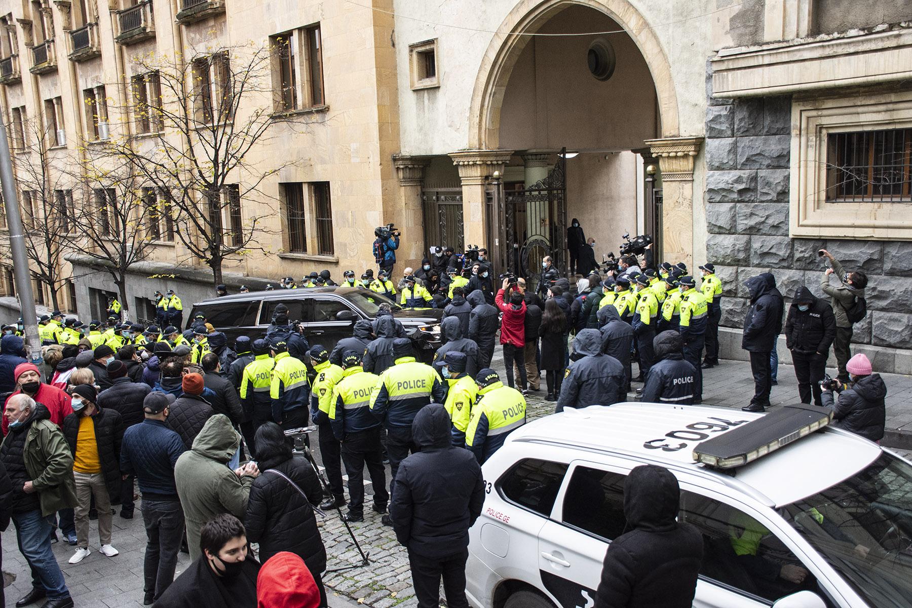 Protesters outside of Georgia's Parliament. Photo: Mariam Nikuradze/OC Media.