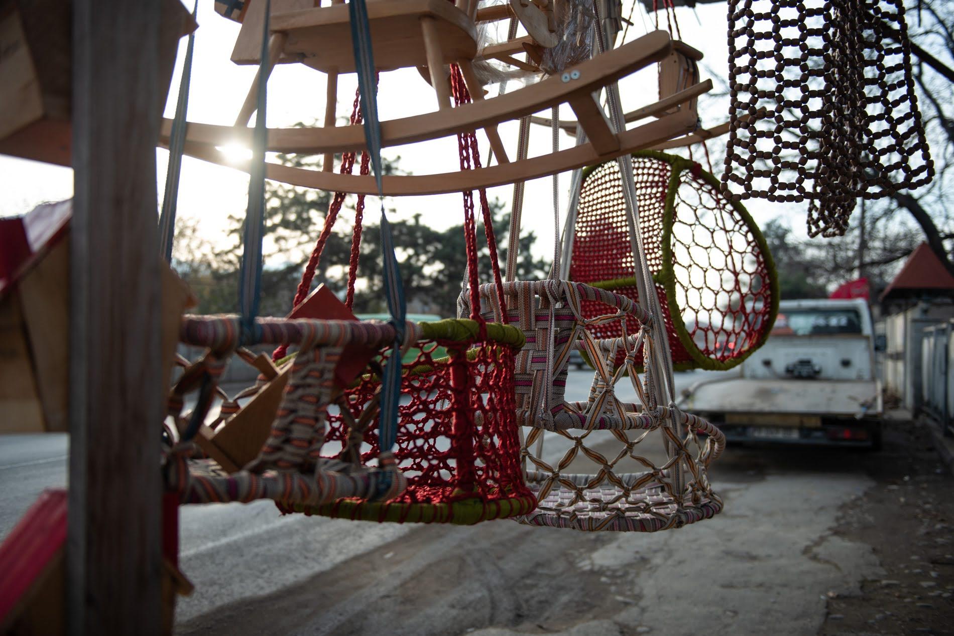 Khashuri, previously a city of hammocks, barely sells anything now. Tamuna Chkareuli/OC Media.