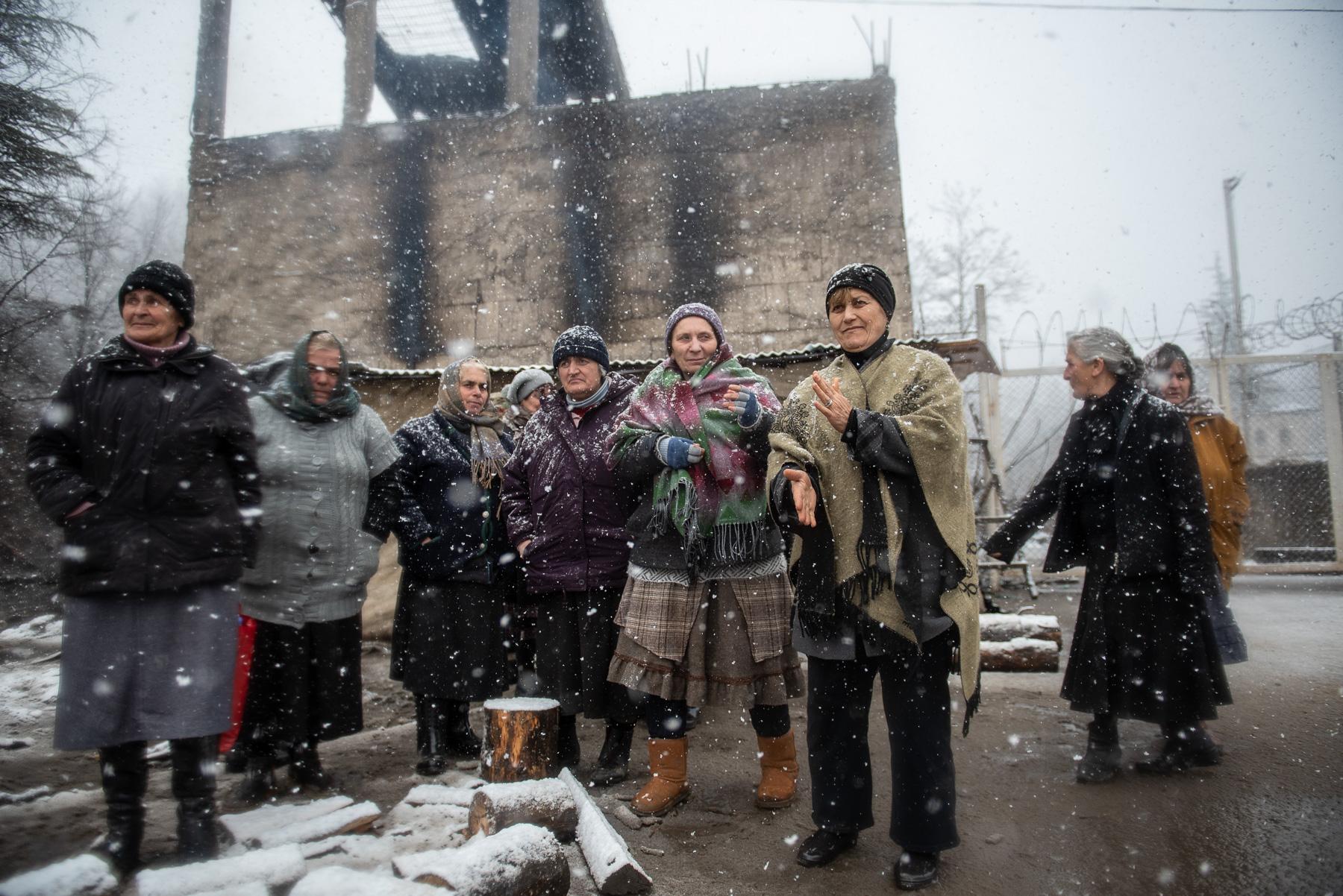 Protesters at their camp in November 2020. Photo: Mariam Nikuradze/OC Media.