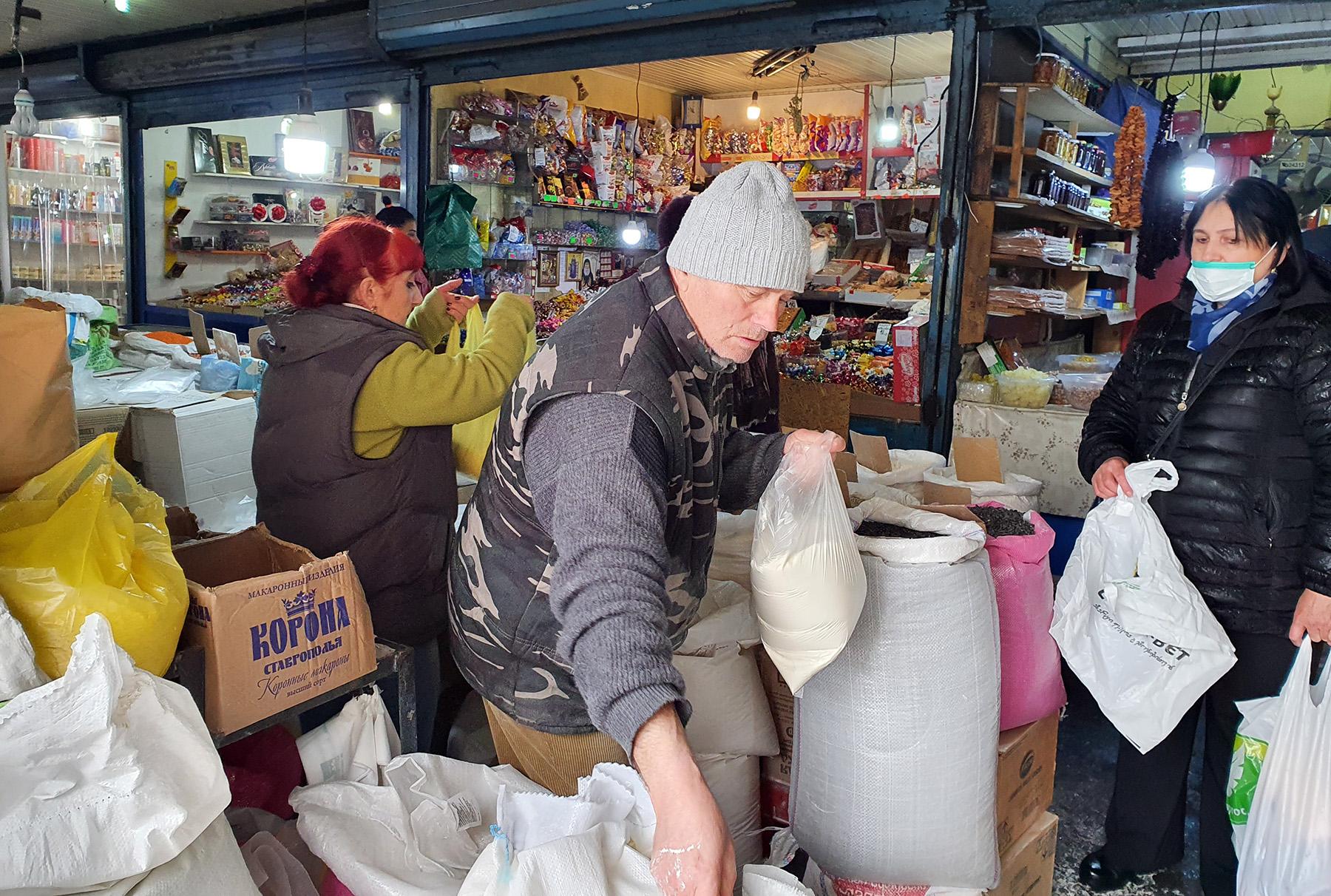 Рынок Вокзальной площади Тбилиси. Фото: Доминик К. Цагара/OC Media.