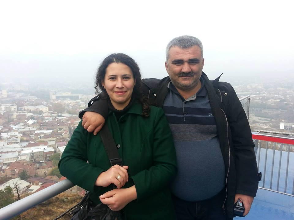 Афган Мухтарлы и его жена Лейла Мустафаева.
