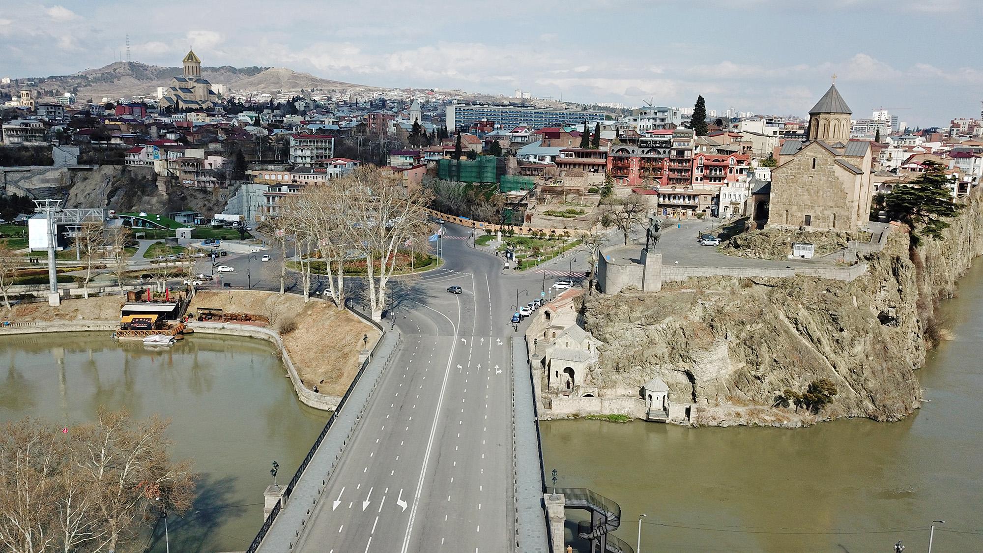 Улицы Тбилиси пустуют со дня объявления чрезвычайного положения. Фото: Мариам Никурадзе/OC Media.