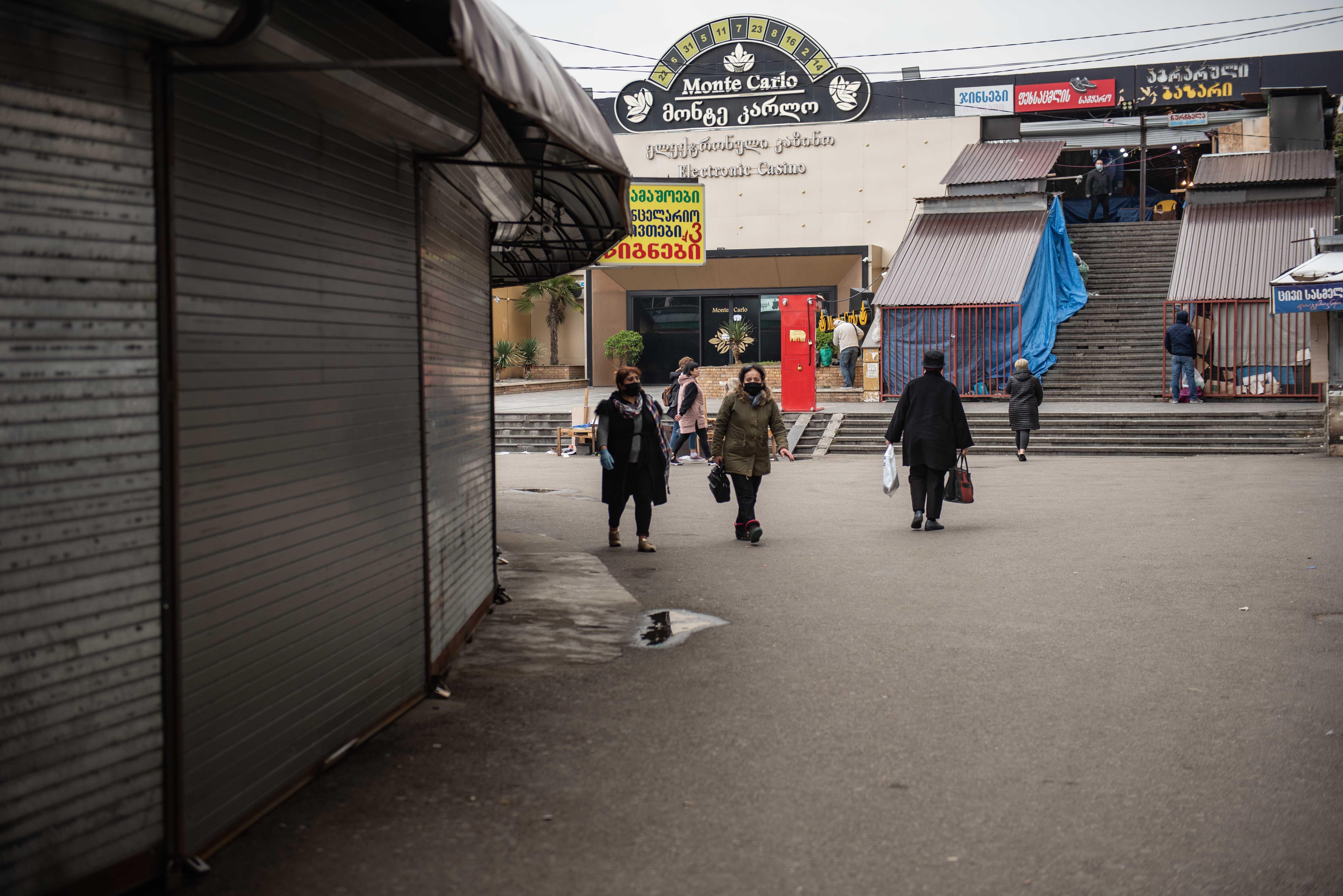 Торговый район возле Вокзальной площади. Мариам Никурадзе/OC Media.