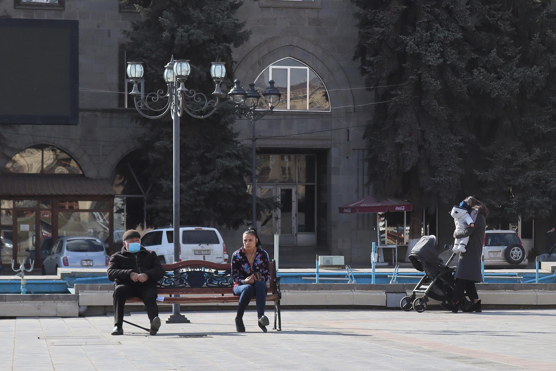 Центральная площадь Вардананц в Гюмри. Фото: Анаит Арутюнян/OC Media.