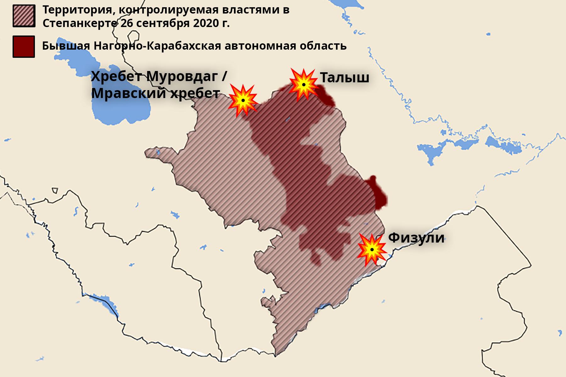 Районы, где бои были наиболее ожесточёнными.