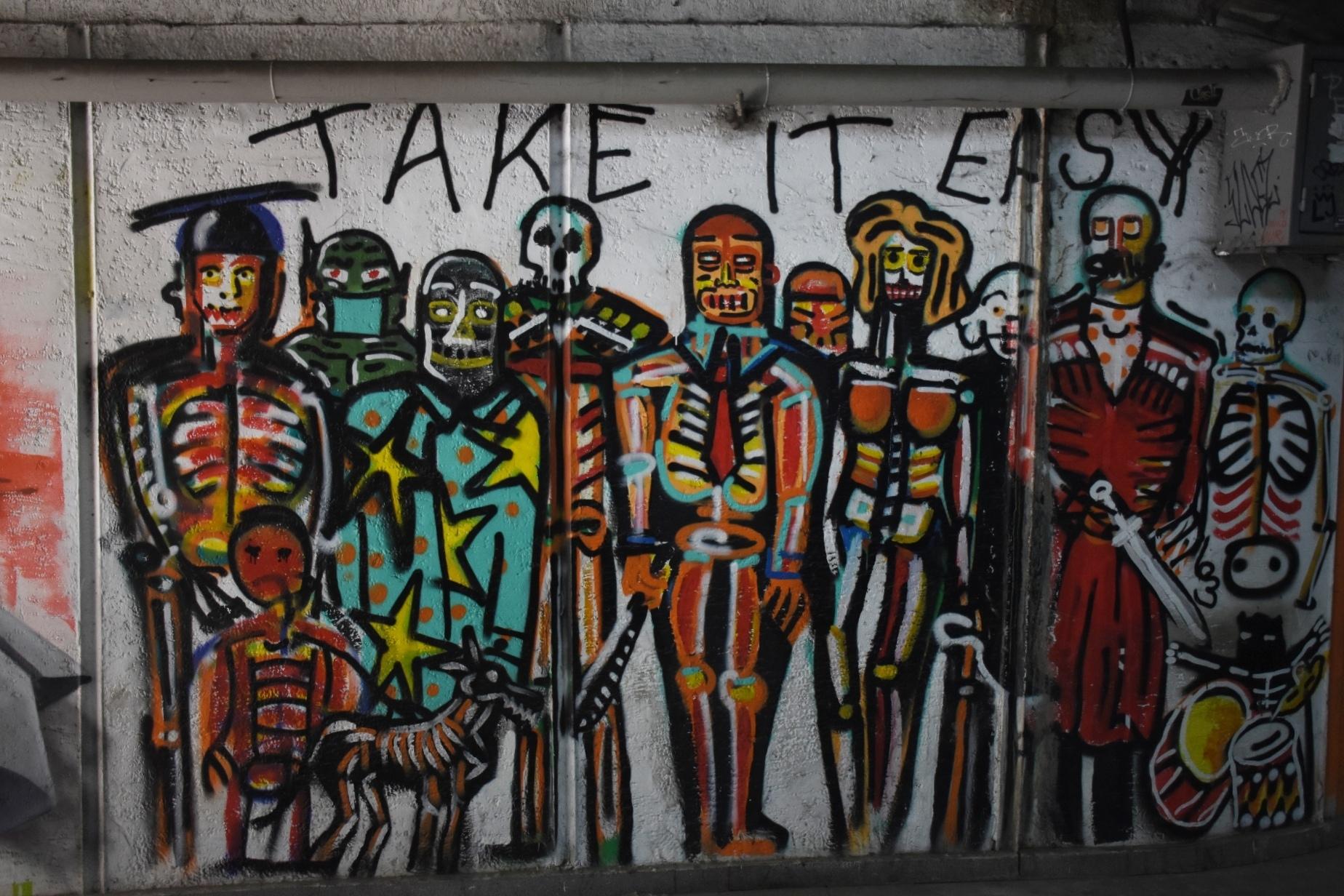 Стрит-арт в одном из подземных переходов Тбилиси. Автор неизвестен. Фото: Тата Шошиашвили/OC Media